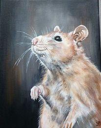 Ratte, Malerei
