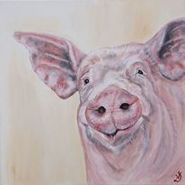Schwein, Malerei,