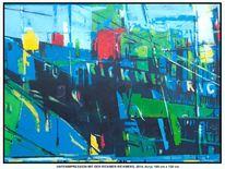 Acrylmalerei, Gelb, Elbe, Schatten