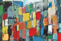 Moderne kunst, Malerei, Moderne architektur, Rot schwarz