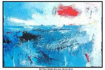 Rot schwarz, Herbst, Landschaft, Malerei