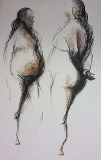 Mann, Zeichnung, Akt, Schatten