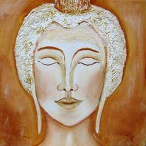 Buddha, Malerei, Portrait zeichnung