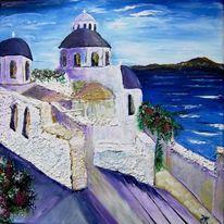 Kirche, Meer, Süden, Malerei