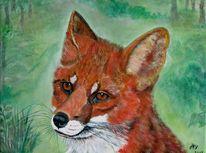 Fuchs, Malerei, Tiere, 2013