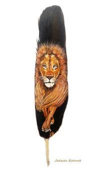 Löwe, Braun, Mähne, Malerei