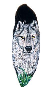 Wald, Wolf, Weiß, Malerei