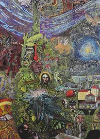 Cannabis, Teufel, Baum, Jesus