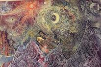 Galaxie, Mondschein, Raumschiff, Schwarzes loch
