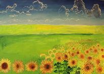 Sommer, Alpen, Sonnenblumen, Bayer