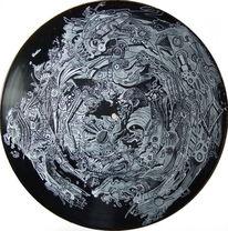 Vinyl, Fantasie, Illustration, Bewegung
