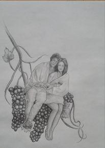 Wein, Portrait, Mann, Frau