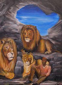 Löwe, Löwin, Bibel, Himmel