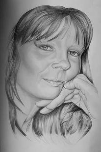 Frau, Gesicht, Malerei