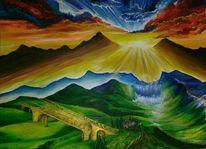 Angelynn, Landschaft, Brücke, Dreampaint
