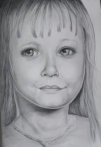 Mädchen, Augen, Portrait, Malerei