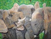 Elefant, Zoo, Gruppentiere, Herdentiere