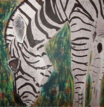 Zebra, Zoo, Afrika, Savanne