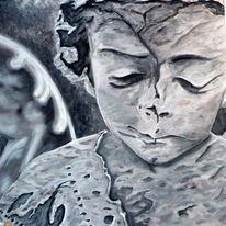 Engel, Realismus, Acrylmalerei, Malerei