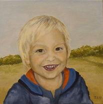 Acrylmalerei, Portrait, Kind, Junge