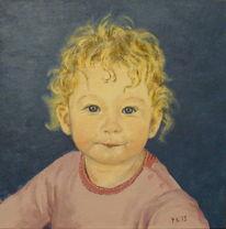 Baby, Acrylmalerei, Mädchen, Portrait