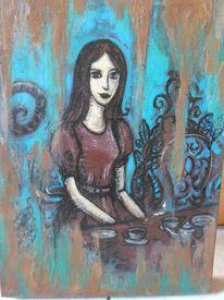 Blau, Abstrakt, Malerei, Wunderland