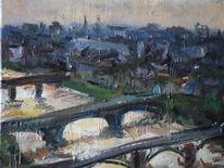 Abend, Schottland, Fluss, Brücke
