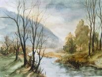 Landschaft, Aquarell