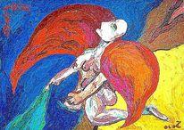 Erzengel, Offenbarung, Engel, Malerei