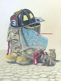 Helm, Realismus, Einsatzbereit, Firefigter