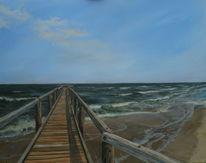Holz, Acrylmalerei, Wasser, Strand