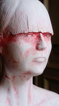 Detailaufnahme, Portrait, Bertold grether berlin, Stehende figur