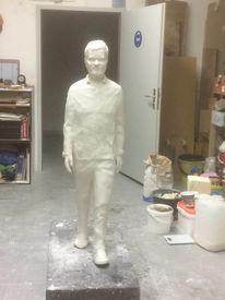 Büste modellieren, Portrait, Gehende figur, Figur