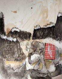 Zeichnungen, Zeichnung, Elefant