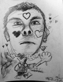 Zeichnungen, Zeichnung, Willkommen, Herz