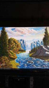 Wasser, Fluss, Felsen, Natur