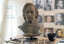Skulptur, Tonbüste, Frederic chopin, Ton büste