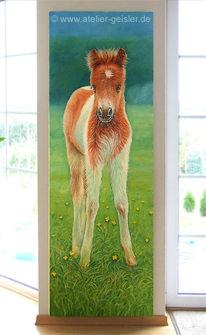 Malerei, Fohlen, Pony