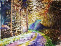 Herbst, Galmbach, Farben, Verlassenes dorf