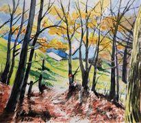 Schöllenbach, Blick, Malerei, Herbst