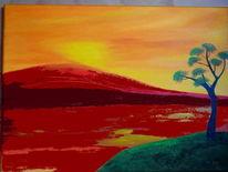 Insel, Verändern, Baum, Fluss