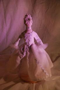 Puppe, Perücke, Rokoko, Kleid