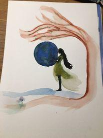Luft, Wind, Blumen, Welt