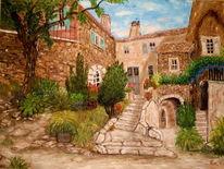 Landschaft, Ölmalerei, Spachteltechnik, Wunderschön