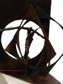 Modern art, Skulptur, Metall, Flucht