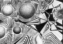 Abstrakt, Sch, Schwarz weiß, Zeichnungen
