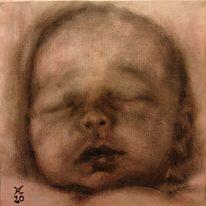 Baby, Schlaf, Allaprima, Malerei