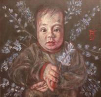 Baby, Hasenglöckchen, Blumen, Malerei