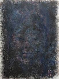 Frau, Dunkel, Malerei
