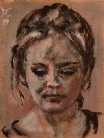 Blick, Rosa, Siena, Malerei